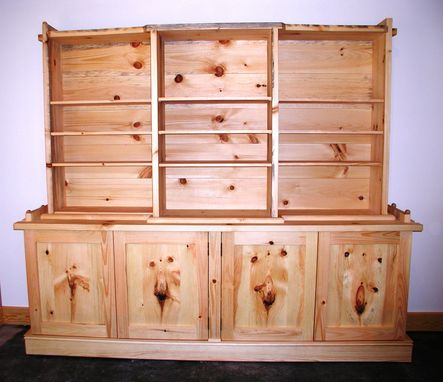 Custom Made Pine Office Cabinet