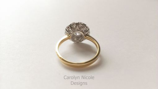 Custom Made Antique Diamond Cluster Ring
