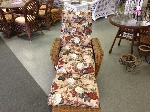 Custom Made Floral Patterned Upholstered Lounge Chair Cushions