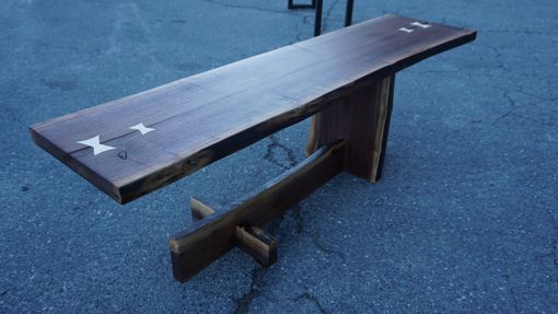 Custom Made Walnut Cantilever Coffee Table