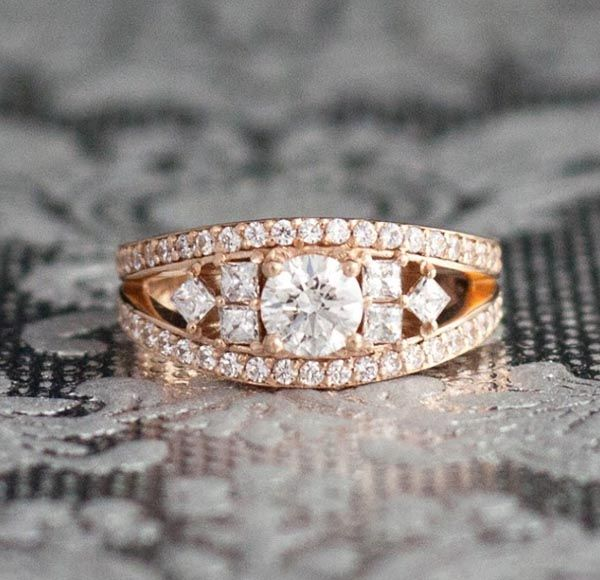 ring engagement of wedding category design geometric center layer own stone surprising we accents com rings custommade diamond carat costume surrounding cut s jewelry contrast princess the love custom half this andrew your