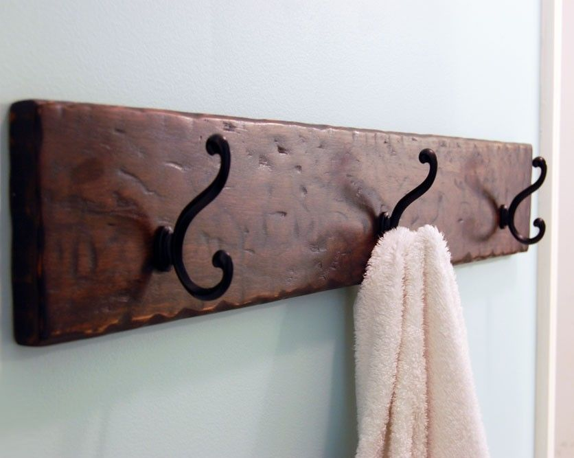 hand crafted wood coat towel rack espresso by subterranean woodworks. Black Bedroom Furniture Sets. Home Design Ideas