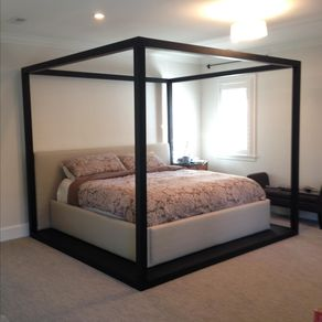four post platform bed