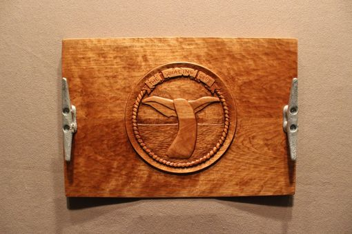 Custom Made Custom Made Serving Tray | Hand Carved Serving Tray | Wood Carving