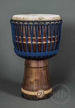 Custom Made Djembe Drum - Walnut With Maple And Bubinga Accents
