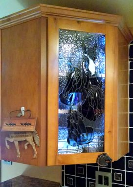 Custom Made Stained Glass Horses