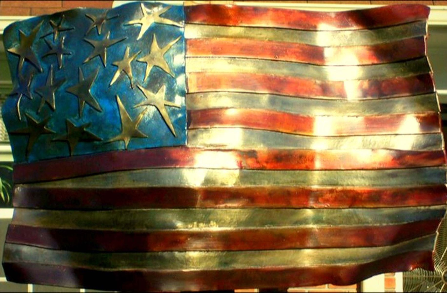 Handmade American Flag by Royer Metalworks | CustomMade.com