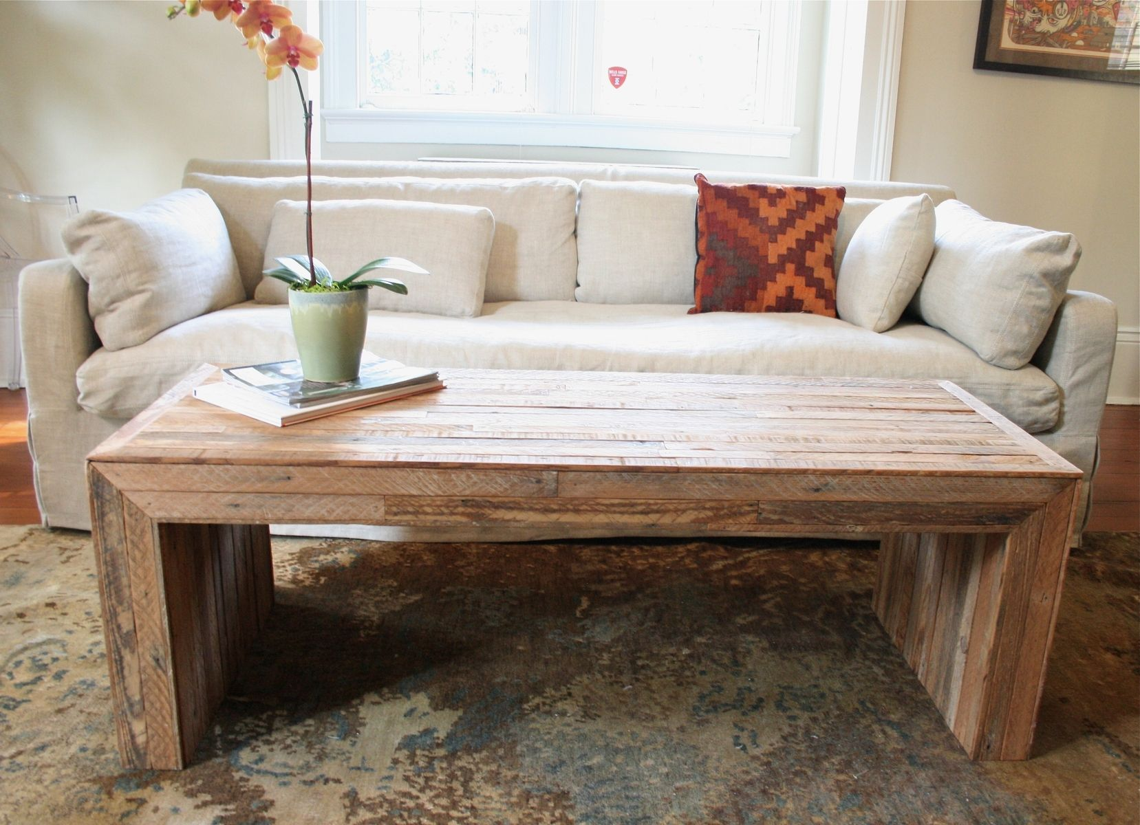 Hand made the jackson table modern yet rustic coffee table for Living room tables
