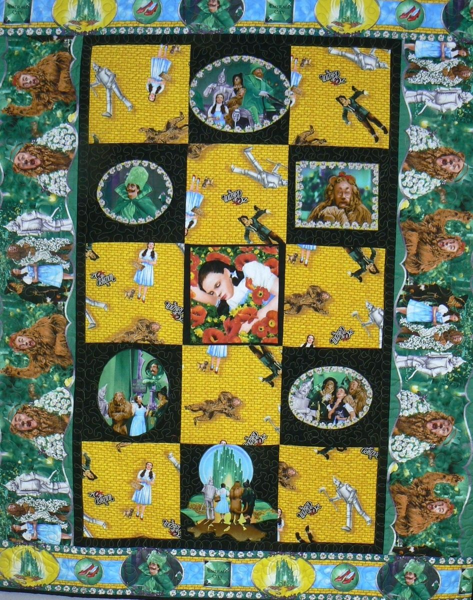 Hand Made Custom Wizard Of Oz Custom Quilt by Arlene\'s Quilts and ...