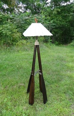 Custom Made Canoe Oar Floor Lamp