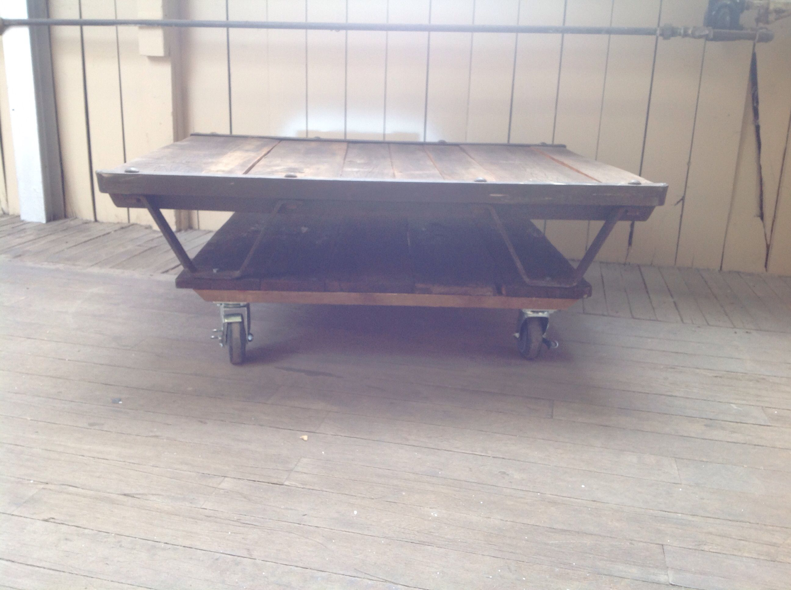 Buy Custom Made Reclaimed Wood Coffee Table Casters made to