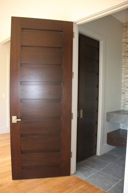 Custom Made Mountain Contemporary Entry Doors