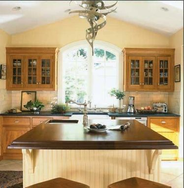 Custom Made Rectangular Mahogany Island Countertop