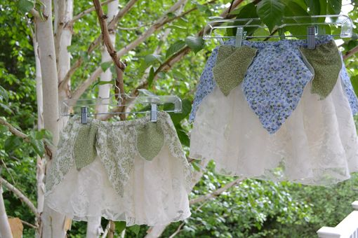 Custom Made Recycled Lace And Cotton Flower Skirts