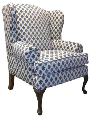 Custom Made Traditional Wingback Chair