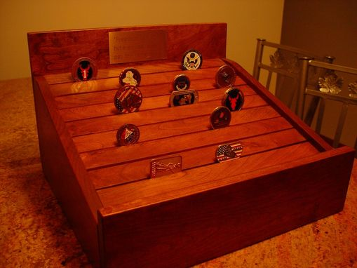 Custom Made Cherry Coin Medallion Display Case