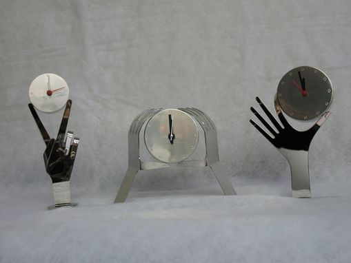Custom Made Karl Schmidt , Hagenauer Style, Whimsical Austrian Desk Clocks