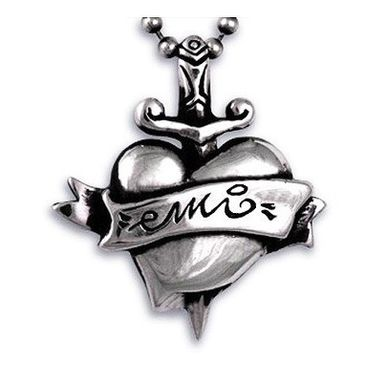 Custom Made Heart And Dagger Tattoo Custom Name Pendant