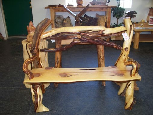 Custom Made Twisted Juniper Bench