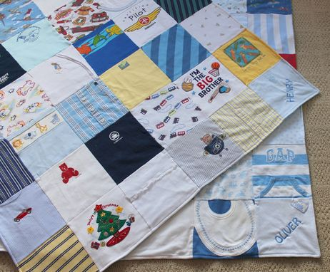 Custom Made Baby Clothes Memory Quilt