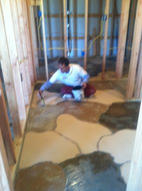 Custom Made Auto Shop Bathroom Floor Minden Louisiana