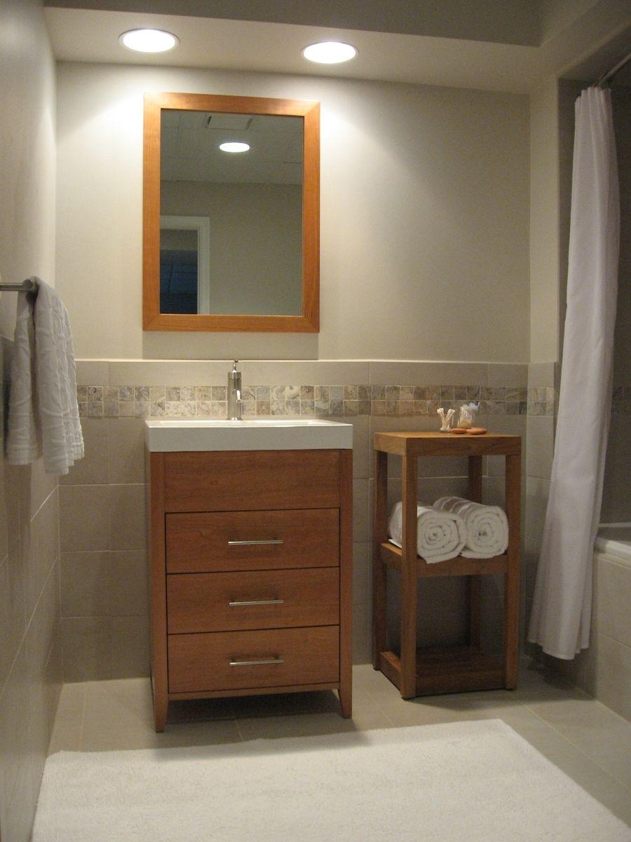 Custom Bath Vanity And Mirror By Musser