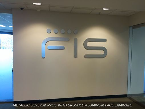 Custom Made 3d Custom Metal & Acrylic Wall Letters For Office Lobby Or Reception Desk