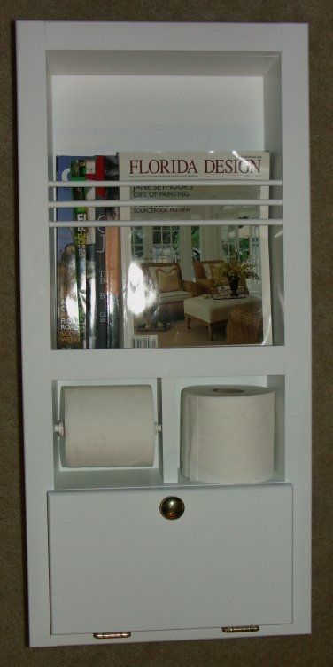 In Wall Toilet Paper Holder custom mr-10 in-the-wall magazine rack/toilet paper holder plus