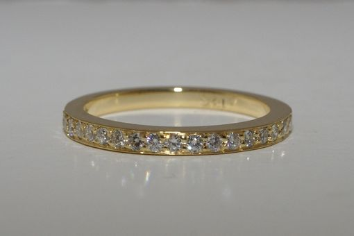 Custom Made 18k Yellow Gold Wedding Band