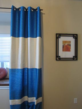Custom Made Color Block Curtains For Different Customers