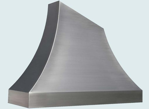Custom Made Stainless Range Hood With Angled Top