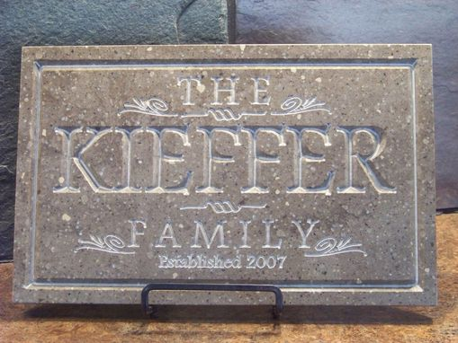 Custom Made Family Name Plaque