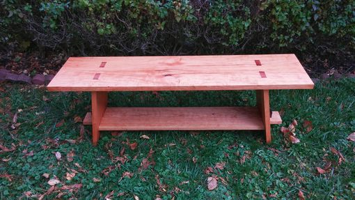 Custom Made Cherry Slab Bench