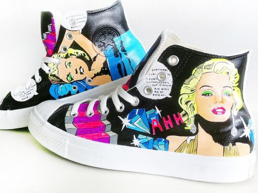 Custom Made Marilyn Monroe Converse (Hand Painted)