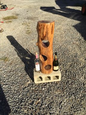 Custom Made Log Wine Rack