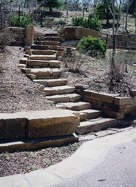 Custom Made Stone Stairs, Stone Retaining Walls