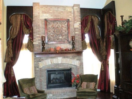 Custom Made Two Story Window Treatments