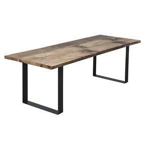 industrial look dining table. rustic modern industrial style reclaimed wood and steel dining table or desk look
