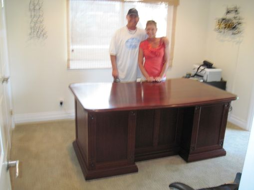 Custom Made Mahogony Executive Desk