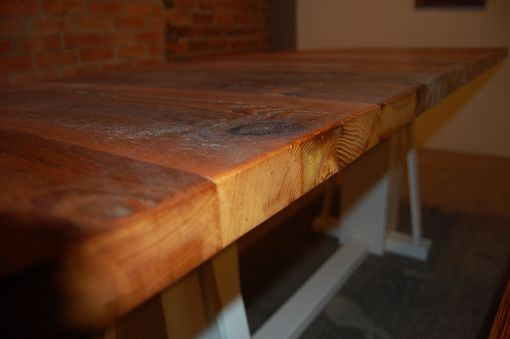 Custom Made Reclaimed Barnwood Kitchen Dining Table And Bench