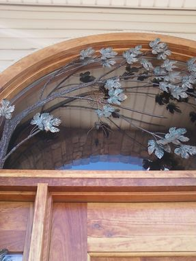 Custom Made Maple Arch Doorway, Fabricated Metal Sculpture