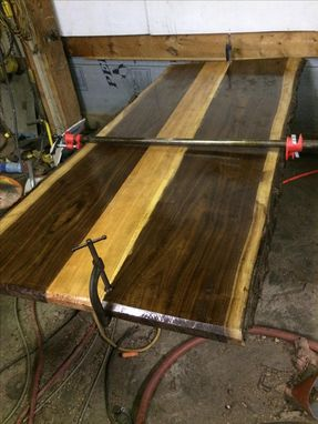 Custom Made Live Edge Walnut & Cherry Tabletop