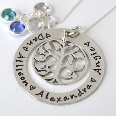 Custom Made Mother Grandmother Tree Of Life Personalized Necklace