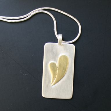 Custom Made Contemporary Heart Pendant