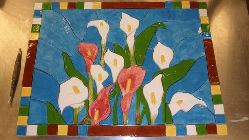 Custom Made Custom Hand Made Calla Lily Back Splash