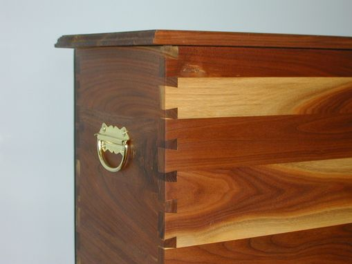 Custom Made Walnut Storage Chest On A Stand