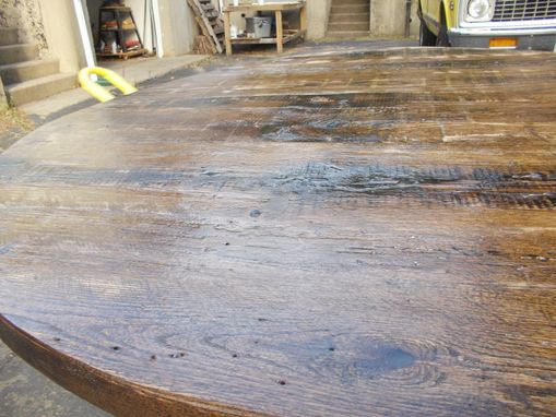 Custom Made Reclaimed Chestnut And Steel Kitchen Table