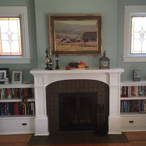 Custom Fireplace Surrounds In Denver Hardwood Paint Grade Wood And Gfrc Concrete