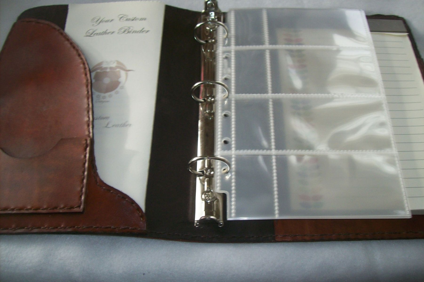 Custom Made Leather Business Card Binder