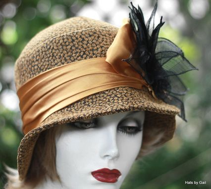 Custom Made Chic Couture 1920'S Style Women's Cloche Hat